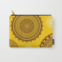 Yellow! Boho style pattern in bright warm tones. Carry-All Pouch