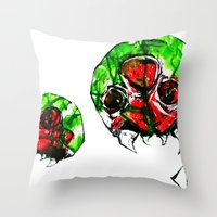 metroid Throw Pillows featuring Metroid by CJ Draden