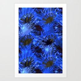 Ocean View Fireworks Art Print