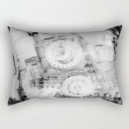 Clock of the old town Rectangular Pillow