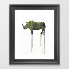 rhinoceros_002 Framed Art Print