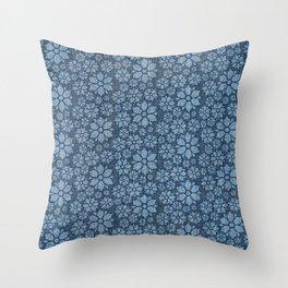 Daisy Denim Throw Pillow
