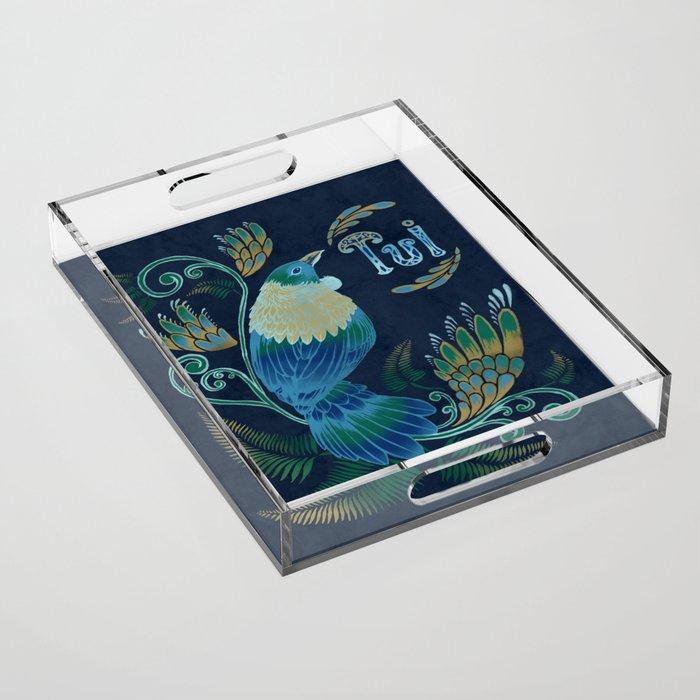 Tui bird Acrylic Tray