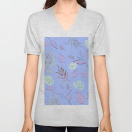 Simple and stylized flowers 10 Unisex V-Neck