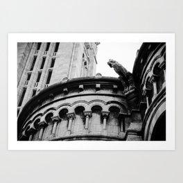 Gargoyle at Montmartre Art Print