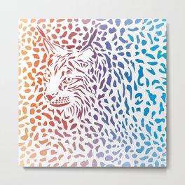 Lynx canadensis background Metal Print