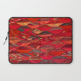 V35 Red Traditional Moroccan Artwork Pattern Laptop Sleeve