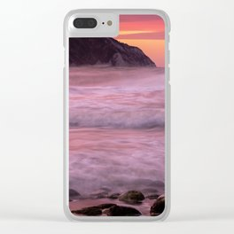 Portonovo beach at sunset Clear iPhone Case