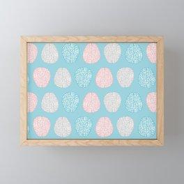 Pastel Brains Pattern Framed Mini Art Print