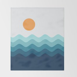 Abstract Landcape 14 Portrait Throw Blanket