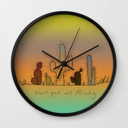 Don't Get All Prickly Wall Clock