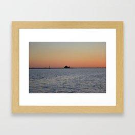 Snail Island Framed Art Print