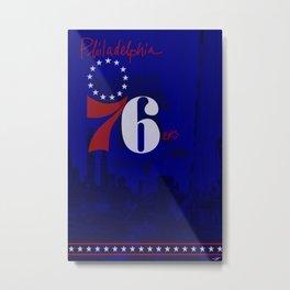 76ers Poster Metal Print