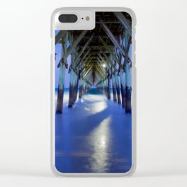 Topsail Pier on Clouds Clear iPhone Case