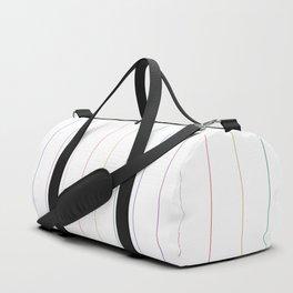Pinstripes - Rainbow Duffle Bag
