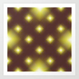 Pattern bron and yellow no. 2 Art Print