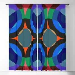 Blosomah - Colorful Abstract Art Blackout Curtain