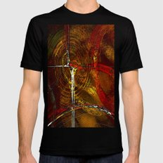 Autumn Abstract Mens Fitted Tee Black MEDIUM