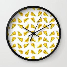 i want pizza Wall Clock