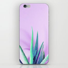 Aloe Vera Succulent with Pink Background iPhone Skin