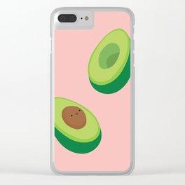 Bouncy Avocado Clear iPhone Case