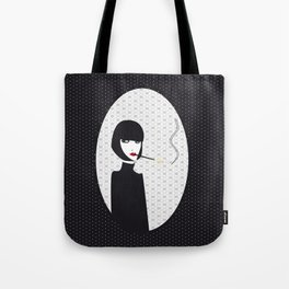Dark lady smoking Tote Bag