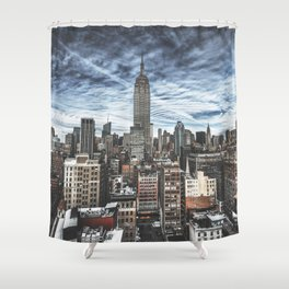empire state building skyline Shower Curtain