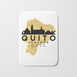 QUITO ECUADOR SILHOUETTE SKYLINE MAP ART Bath Mat