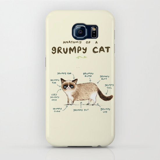 Anatomy Of A Grumpy Kitty Iphone Case By Sophiecorrigan Society6