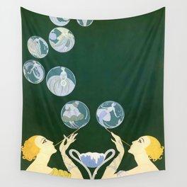 "1920's Art Deco Design ""Bubbles"" Wall Tapestry"