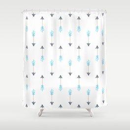 Blue Arrow Shower Curtain