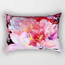 Beautiful flowers bouquet. Watercolor illustration Rectangular Pillow