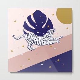 Tiger and the Sun II. Metal Print