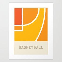 Basketball (Sports Surfaces Series, No. 6) Art Print