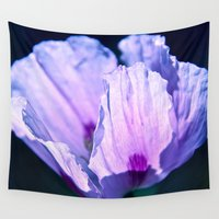 poppy Wall Tapestries featuring Poppy by CrismanArt