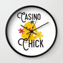 Casino Chick (2) Wall Clock