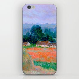 Claude Monet Impressionist Landscape Oil Painting Haystack at Giverny iPhone Skin