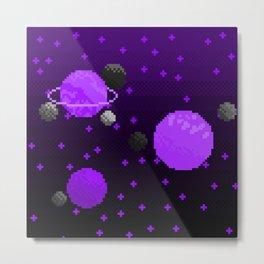 Spacey - Purple Metal Print