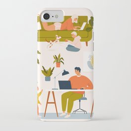 Stay at home. iPhone Case