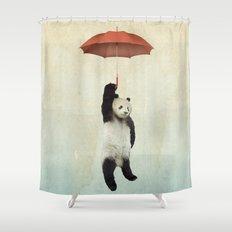 Pandachute Shower Curtain