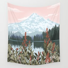 Mount Hood National Park Poster, Portland Oregon, Pacific Northwest, Vintage Retro Travel Poster Wall Tapestry