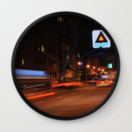 See It Go -- Boston Night.  Kenmore Square Wall Clock