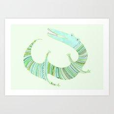 Mr Croc Art Print
