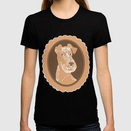 Irish Terrier Printmaking Art T-shirt
