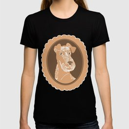 Irish Terrier Printmaking Art T-shirt