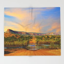 Sunset on the Cockburn Range - The Kimberley Throw Blanket