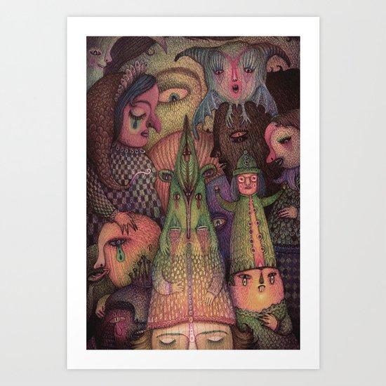 Let The Masquerade Begin! Art Print
