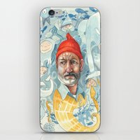 life aquatic iPhone & iPod Skins featuring AQUATIC by busymockingbird
