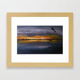 Smith's Point Sunrise Framed Art Print