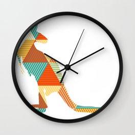 Kangaroo Capers Wall Clock